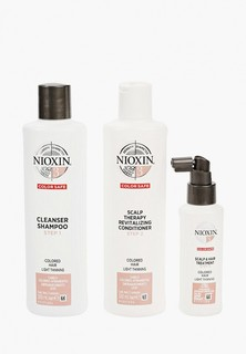 Набор для ухода за волосами Nioxin NIOXIN система 3: шампунь (300 мл), кондиционер (300 мл), маска (100 мл)