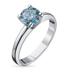 Кольцо из белого золота э0912кц11102400 ЭПЛ Якутские Бриллианты