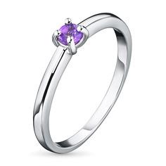 Кольцо из серебра с аметистом э0607кц01162900 ЭПЛ Якутские Бриллианты