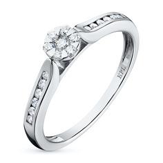 Кольцо из белого золота с бриллиантами э0901кц02186600 ЭПЛ Якутские Бриллианты