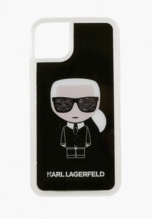 Чехол для iPhone Karl Lagerfeld 11 Pro Max, Liquid glitter Karl Iconic Hard Black