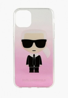 Чехол для iPhone Karl Lagerfeld 11 Pro, TPU/PC collection Karl Iconik Hard Gradient Pink