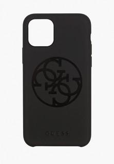 Чехол для телефона Guess 11 Pro, Silicone collection 4G logo Hard Black