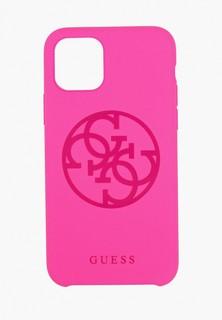 Чехол для телефона Guess 11 Pro, Silicone collection 4G logo Hard Fuschia