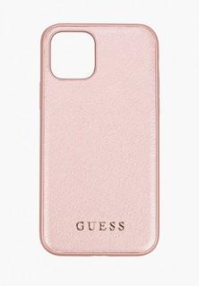 Чехол для iPhone Guess 11 Pro, Iridescent Hard PU Rose gold