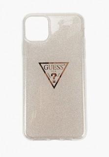 Чехол для iPhone Guess 11 Pro Max, Triangle logo Hard TPU Glitter Gold