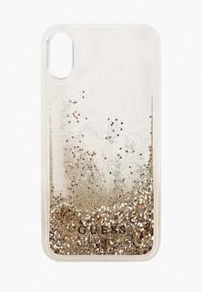 Чехол для iPhone Guess XR, Glitter Hard Gold