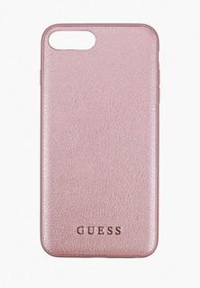 Чехол для iPhone Guess 7 Plus/8 Plus, Iridescent Hard PU Rose gold