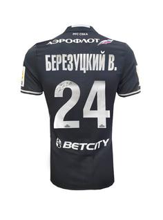 Футболка игровая с автографом БЕРЕЗУЦКОГО В. (6) ПФК ЦСКА