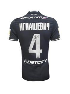 Футболка игровая с автографом ИГНАШЕВИЧА (6) ПФК ЦСКА