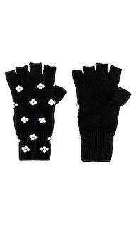 Перчатки без пальцев pearl cluster knit - Lele Sadoughi