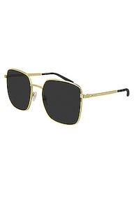 Солнцезащитные очки metal logo square - Gucci
