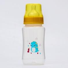 Бутылочка для кормления, 320 мл., широкое горло, цвет желтый