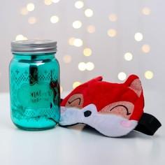 Набор свеча и маска для сна Зимнее волшебство