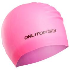 Шапочка для плавания, для длинных волос, цвет розовый Onlitop