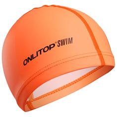 Шапочка для плавания, взрослая, цвет оранжевый Onlitop