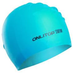 Шапочка для плавания, для длинных волос, цвет синий Onlitop
