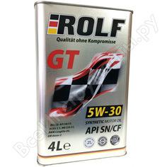 Моторное масло rolf gt 5w-40 sn/cf 4 л 322229