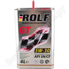 Моторное масло rolf масло gt 5w-30 sn/cf 4 л 322228