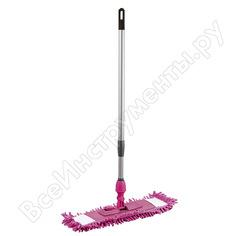 Швабра для влажной уборки inloran лапша, фиолетовый, шенилл, ручка телескопическая s-l111vt