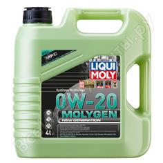 Нс-синтетическое моторное масло molygen new generation (0w-20; 4л) liqui moly 21357