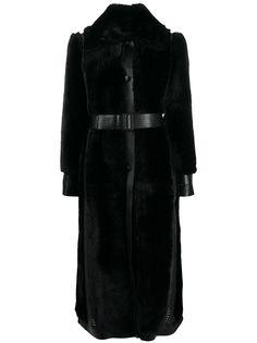 Stella McCartney однобортная шуба из шерпы