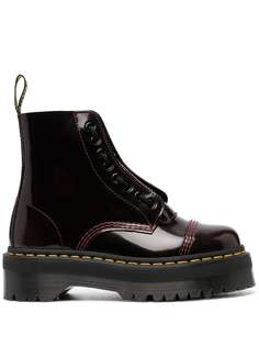 Dr. Martens лакированные ботинки на шнуровке