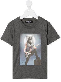 Neil Barrett Kids футболка с графичным принтом