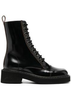 Maison Margiela ботинки в стиле милитари с квадратным носком