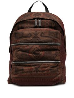 Etro рюкзак с молниями и принтом