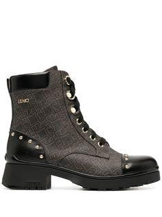 LIU JO байкерские ботинки с монограммой
