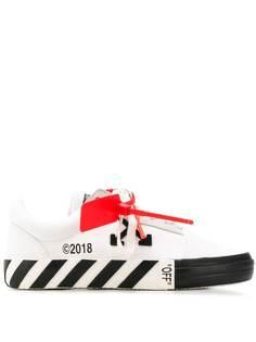 Off-White кроссовки в полоску на шнуровке
