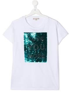 ELIE SAAB JUNIOR футболка с пайетками