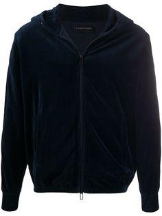 Emporio Armani бархатная куртка на молнии