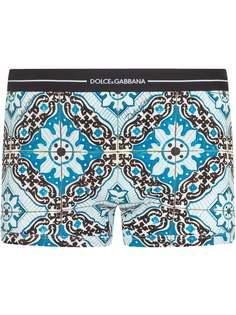 Dolce & Gabbana боксеры с принтом Maiolica