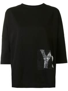 Ys декорированная футболка с короткими рукавами Y's
