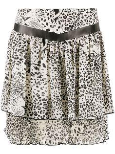 LIU JO расклешенная юбка с леопардовым принтом