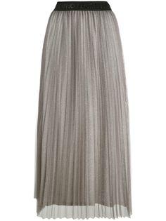 LIU JO плиссированная юбка миди с завышенной талией