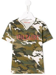 Zadig & Voltaire Kids футболка с камуфляжным принтом