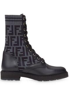 Fendi ботинки Rockoko с логотипом FF