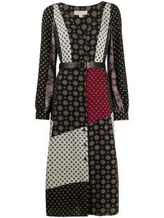 Michael Michael Kors платье миди со вставками и принтом