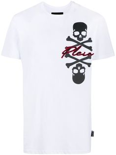 Philipp Plein футболка с вышивкой Skull