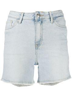 Tommy Hilfiger джинсовые шорты с бахромой