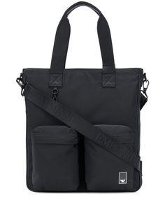 Emporio Armani сумка-тоут с карманами и логотипом