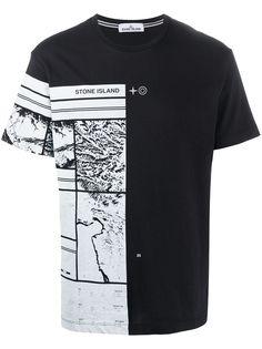 Stone Island футболка с графичным принтом и короткими рукавами