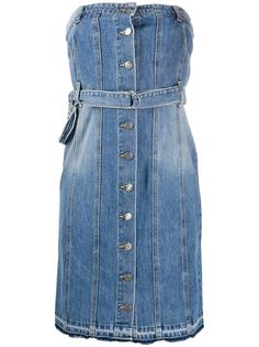 SJYP джинсовое платье без бретелей