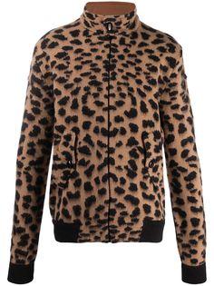 Laneus куртка с леопардовым принтом