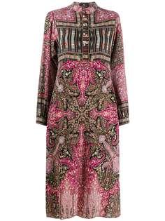 Etro платье с принтом