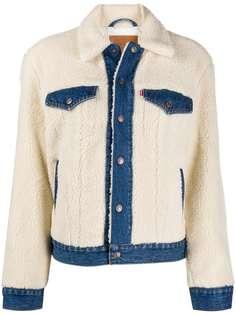 Levis джинсовая куртка из шерпы
