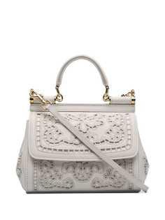 Dolce & Gabbana сумка на плечо Sicily с цветочной вышивкой